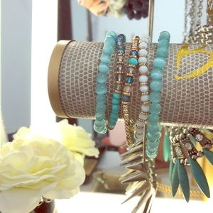Beaded stretchy bracelets